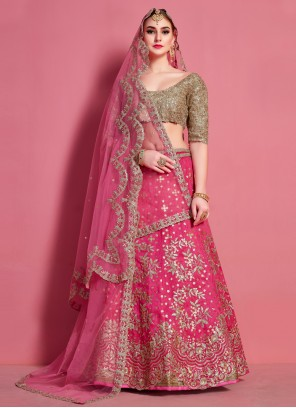 Art Silk Lace A Line Lehenga Choli