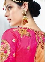 Art Silk Lehenga Choli in Multi Colour