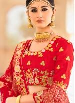 Art Silk Lehenga Choli in Pink