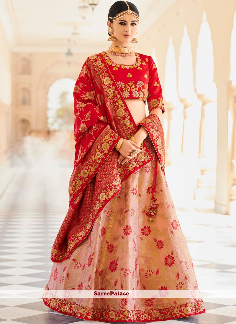 de368115d0 Buy Art Silk Lehenga Choli in Pink Online