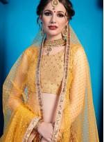 Art Silk Maroon Embroidered Designer Lehenga Choli