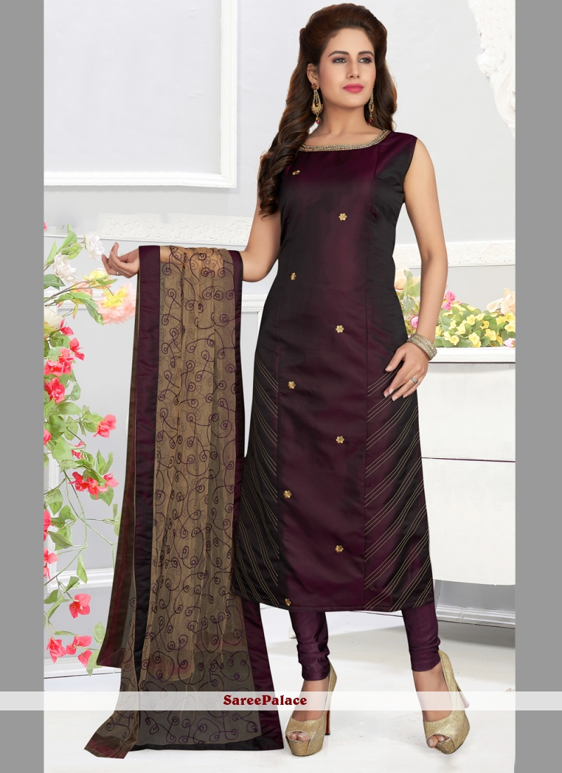 Art Silk Multi Colour Designer Salwar Suit