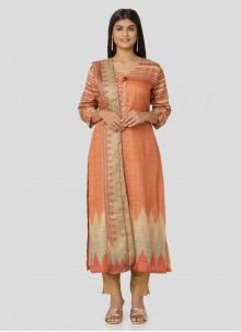 Art Silk Multi Colour Printed Salwar Suit