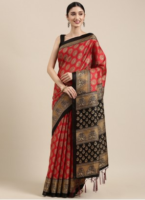Art Silk Multi Colour Trendy Saree
