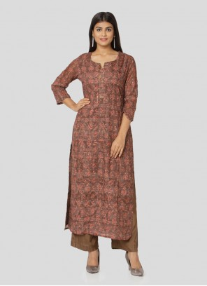Art Silk Salwar Suit in Multi Colour