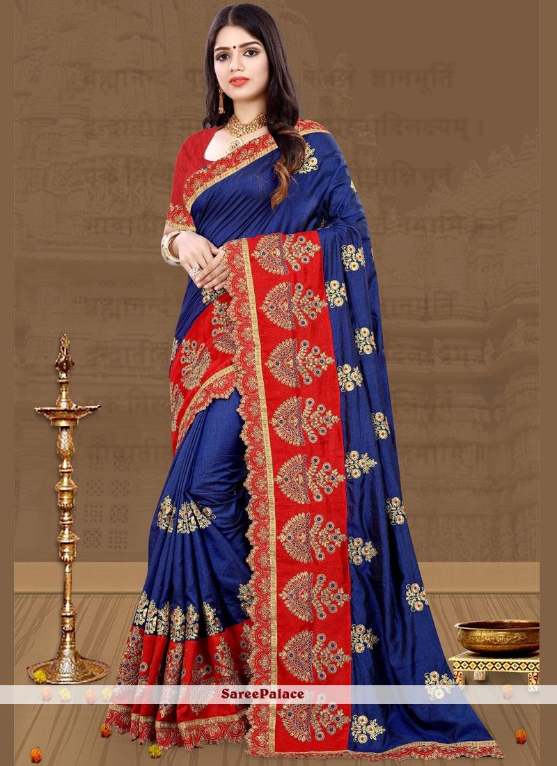 Blue Art Silk Party Traditional Designer Saree