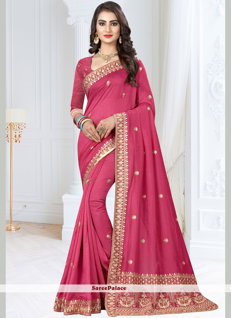 Art Silk Patch Border Designer Traditional Saree