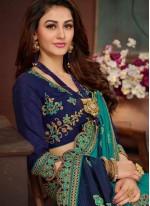 Art Silk Patch Border Shaded Saree