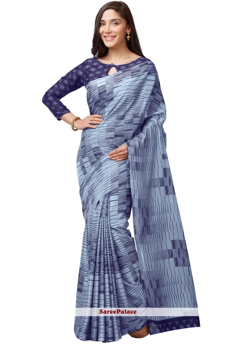 Art Silk Printed Multi Colour Casual Saree