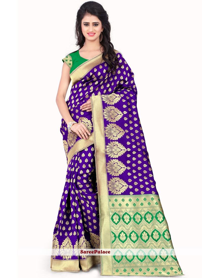Art Silk Purple Traditional Designer Saree