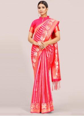 Art Silk Rani Traditional Designer Saree