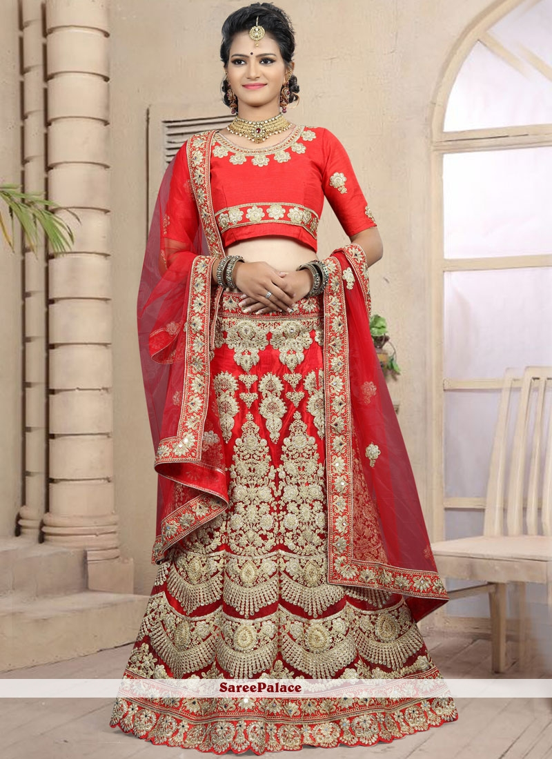 304180a09d Buy Art Silk Red Designer Lehenga Choli Online