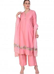 Art Silk Resham Designer Suit