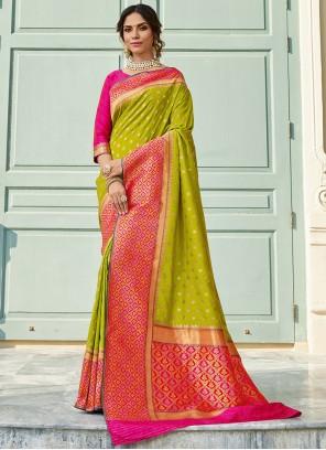 Green Art Silk Sangeet Classic Saree