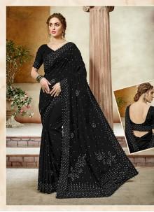 Art Silk Sangeet Designer Saree
