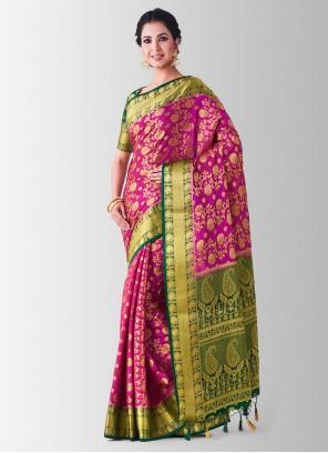 Art Silk Sangeet Designer Traditional Saree