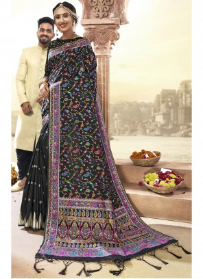 Art Silk Saree in Black