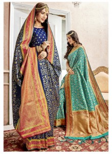 Art Silk Saree in Blue