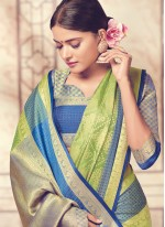 Art Silk Sea Green Weaving Work Designer Traditional Saree