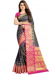 Art Silk Traditional Saree in Grey