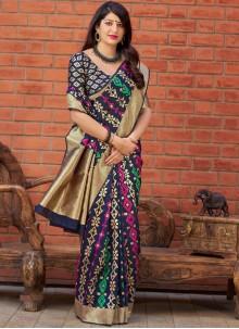 Art Silk Traditional Saree in Multi Colour