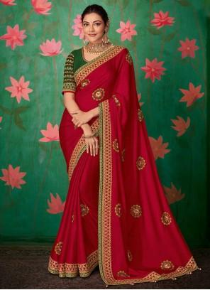 Art Silk Pink Trendy Saree