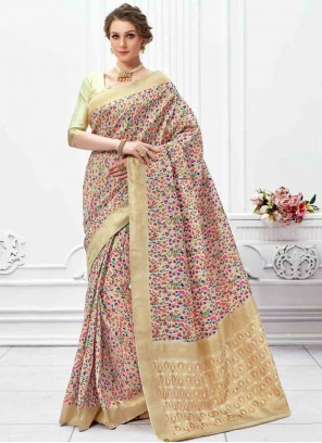 Art Silk Weaving Classic Saree in Multi Colour