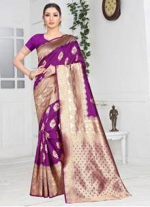 Art Silk Weaving Contemporary Saree