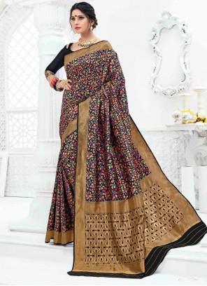 Art Silk Weaving Multi Colour Classic Designer Saree