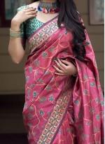 Art Silk Weaving Pink Designer Traditional Saree