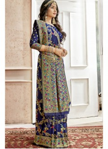 Art Silk Blue Weaving Saree