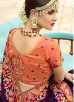 Art Silk Wine Resham Designer Traditional Saree
