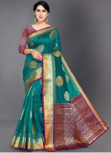 Art Silk Woven Traditional Designer Saree