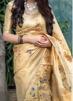 Art Silk Yellow Weaving Traditional Saree