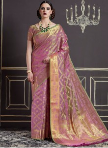 Artistic Weaving Work Art Silk Traditional Designer Saree
