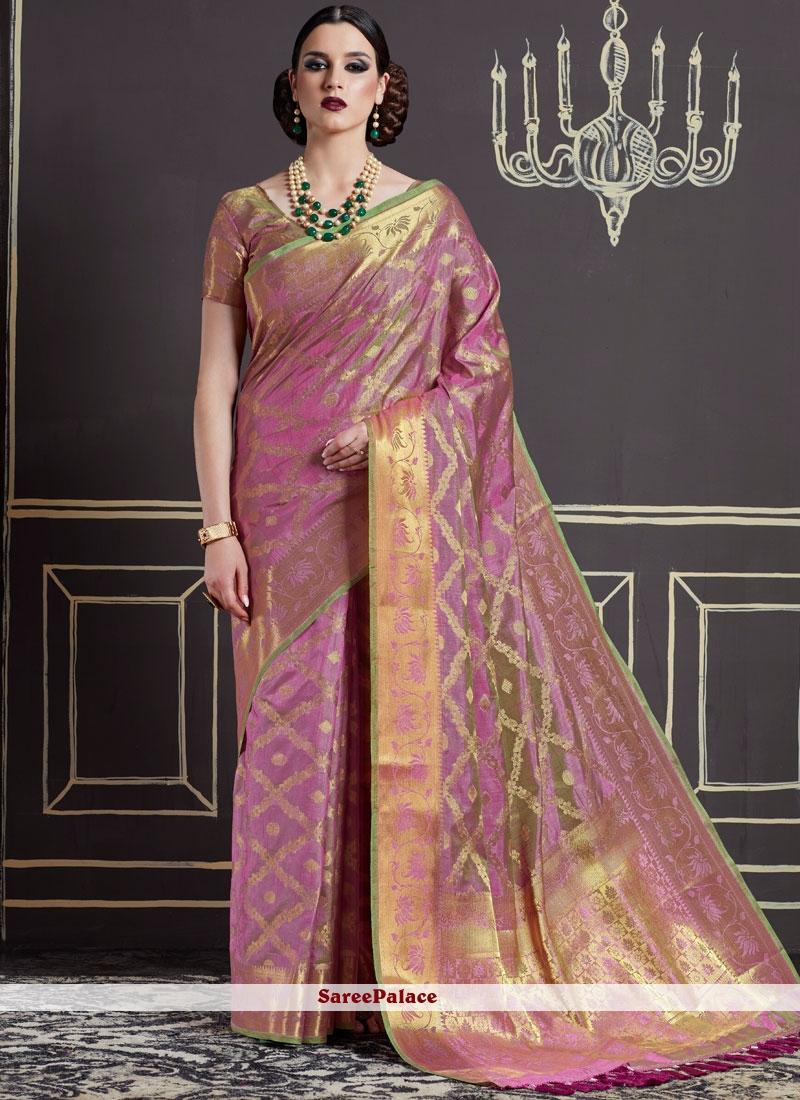 Artistic Weaving Work Art Silk Traditional Designer Saree
