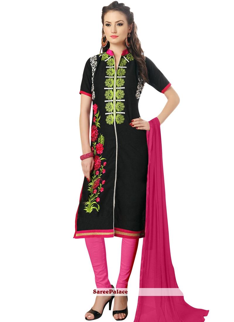 8d5108e880 Buy Aspiring Black Churidar Suit Online