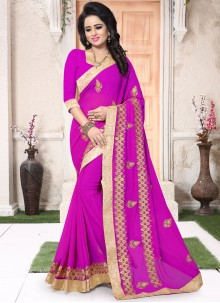 Aspiring Embroidered Work Classic Saree
