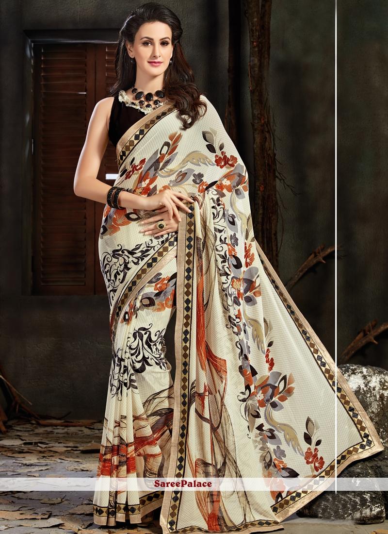 Aspiring Multi Colour Faux Georgette Printed Saree