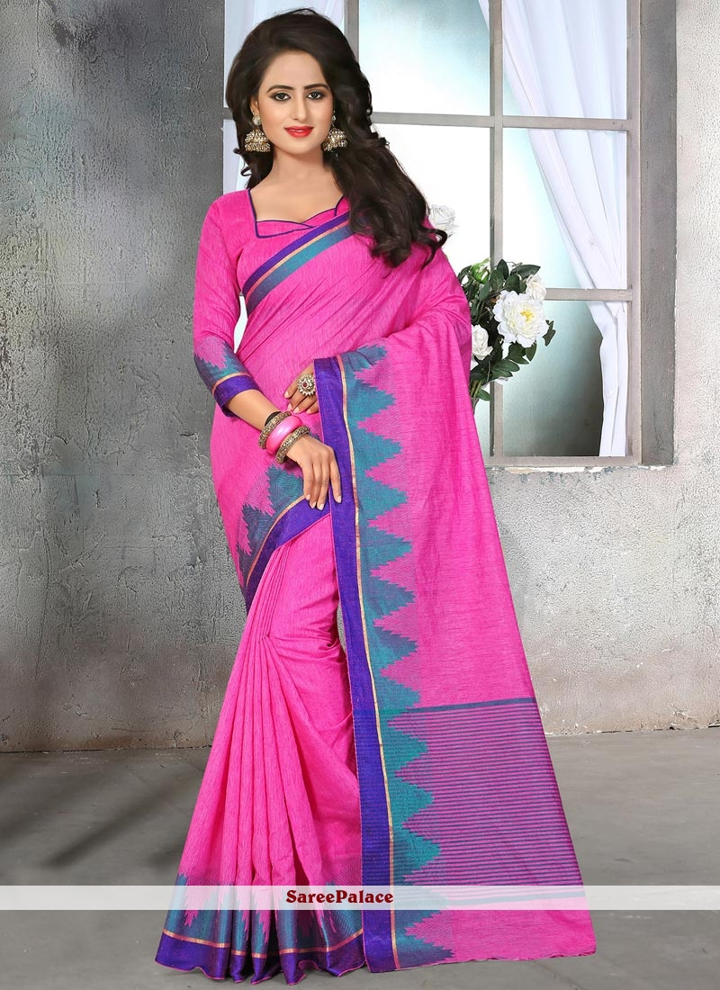Aspiring Pink Classic Saree