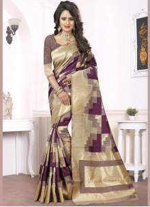 Astonishing Art Silk Weaving Work Designer Traditional Saree