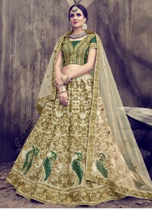 Astounding Embroidered Work Net Lehenga Choli