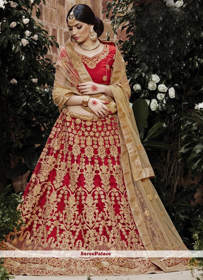 6ed32fe781 Buy Auspicious Net Lace Work Lehenga Choli Online