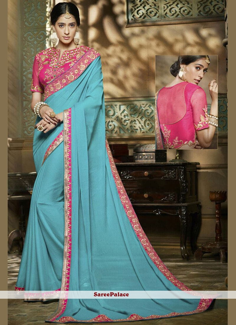 Auspicious Sequins Work Chiffon Satin Classic Saree
