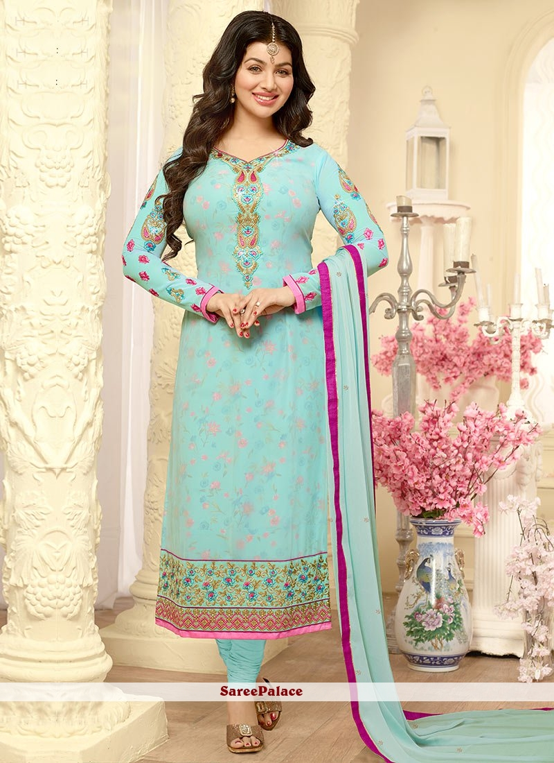 Buy Ayesha Takia Blue Churidar Designer Suit Online