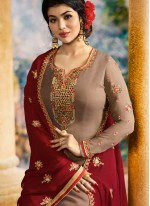 Ayesha Takia Brown Churidar Designer Suit