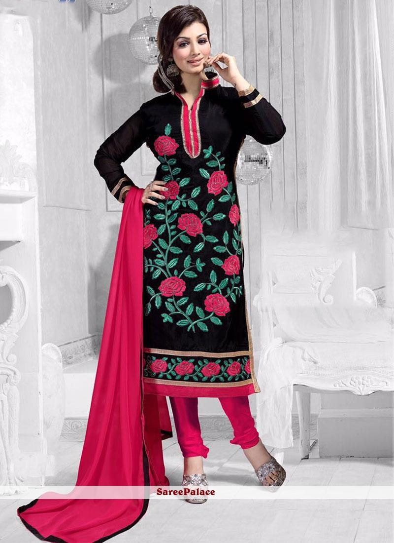 Ayesha Takia Chanderi Churidar Suit