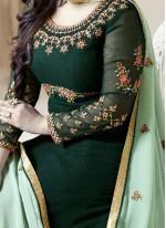Ayesha Takia Embroidered Work Green Floor Length Anarkali Suit
