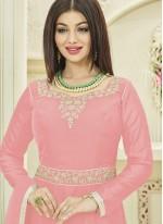 Ayesha Takia Georgette Pink Stone Work Desinger Anarkali Suit