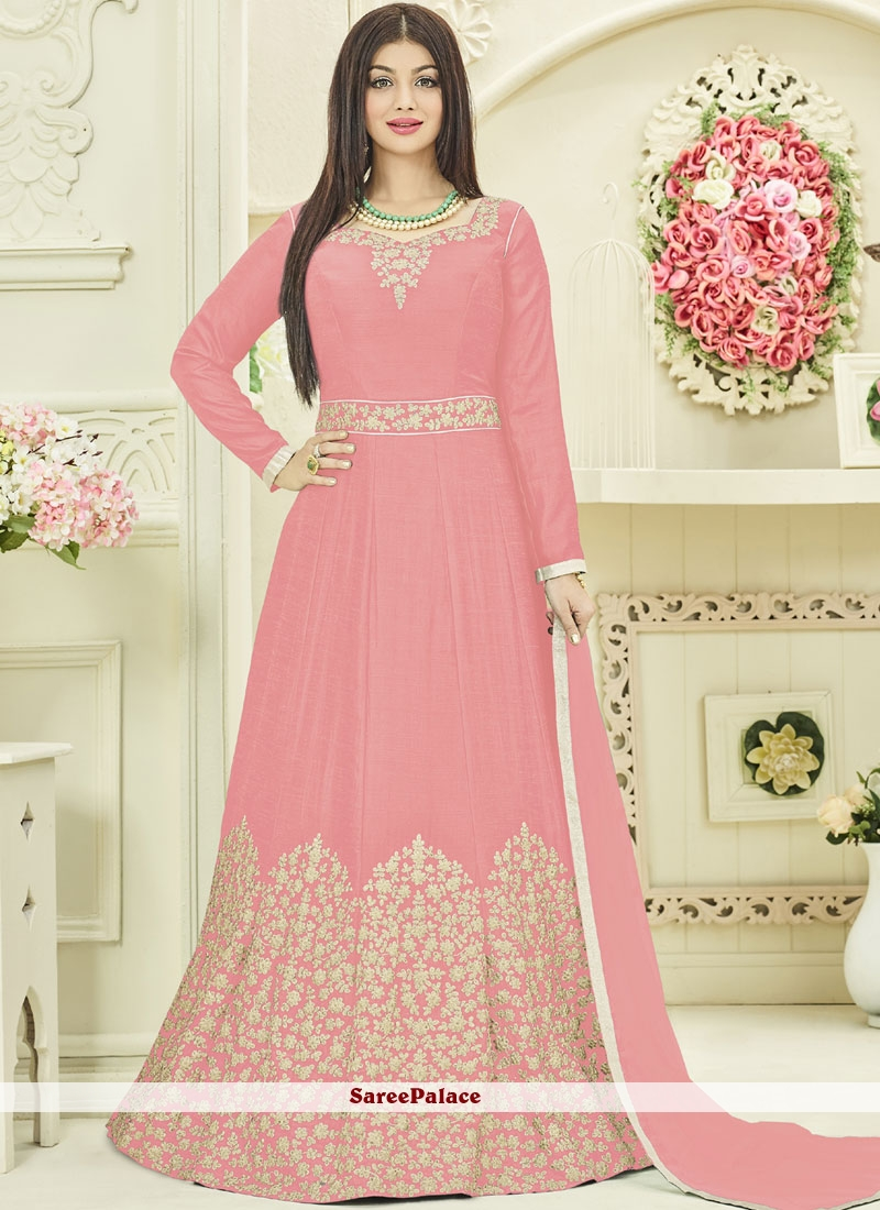 6347a75089 Buy Ayesha Takia Georgette Pink Stone Work Desinger Anarkali Suit Online